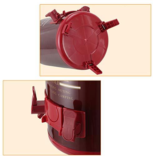 Aprilhp Teemaschinen Wasserkocher Heißwasserspender Edelstahl 6L/8L/10L, Thermoskanne Thermobehälter Kaffeebereiter Thermosgefäße für Saft Milch Tee, Hält Warme Getränke Lange Warm