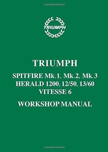 Triumph Spitfire Mk. 1, Mk. 2, Mk. 3 Herald 1200, 12/50, 13/60 & Vitesse 6 Workshop Manual (Triumph Workshop Manual: Spitfire Mk1, 2 & 3 & Herald / Vitesse 6)