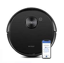 ECOVACS DEEBOT OZMO T8 AIVI Saugroboter mit aktiver Wischfunktion (2in1), intelligenter Navigation + cleverer Objekterkennung, Roboterstaubsauger (App Steuerung), Alexa, schwarz©Amazon