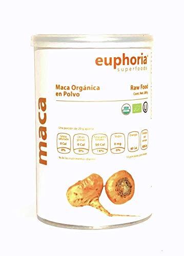 Euphoria Superfoods, Maca Orgánica en Polvo, 200 g