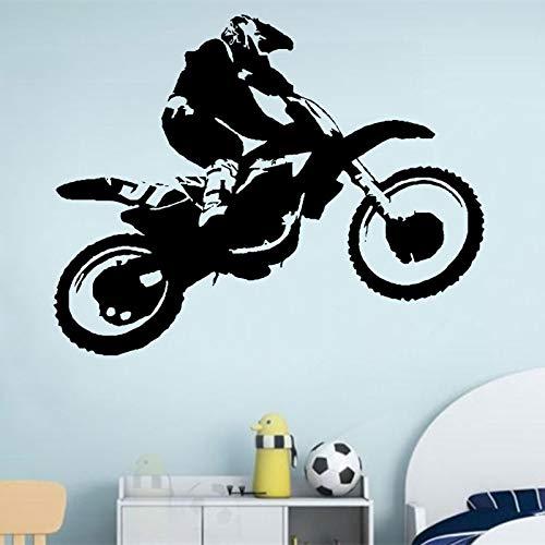 mlpnko Sticker Vinyle Autocollant Scrambler Moto Dirt Bike Sticker Motocross Chopper chevauchant Enfants garçon garçon Chambre 79x63cm