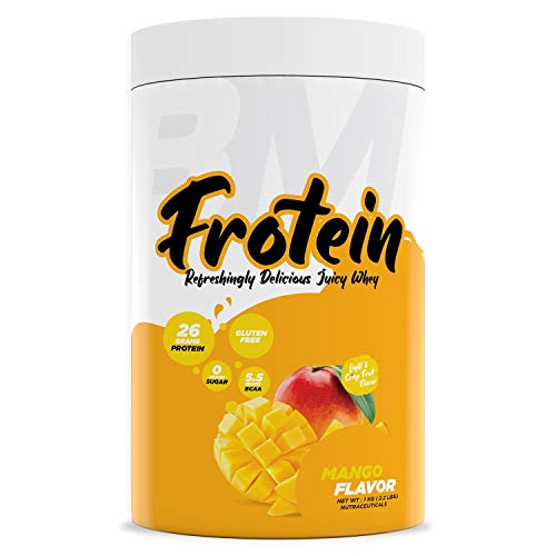 Bigmuscles Nutrition Frotein 26g Refreshing Mango Flavored Hydrolysed Whey Protein Isolate [30 Servings, 1 kg]   15g EAA   0g Sugar