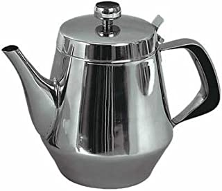 Stainless Steel Gooseneck Tea Pot w/Vented Hinged Lid, 20 Fluid Ounces (2-3 Cups) by Pride Of India