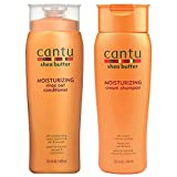 Cantu Moisturizing Cream Shampoo 13.5 oz & Moisturizing Rinse Out Conditioner 13.5 oz by Cantu