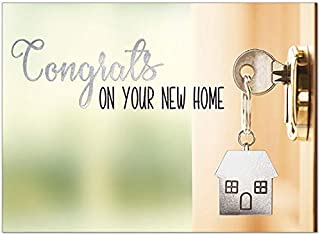 25 Congrats on Your New Home Cards - New House Key - 26 White Envelopes - FSC Mix