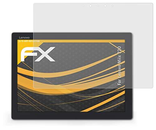 atFolix Panzerfolie kompatibel mit Lenovo Miix 720 Schutzfolie, entspiegelnde & stoßdämpfende FX Folie (2X)