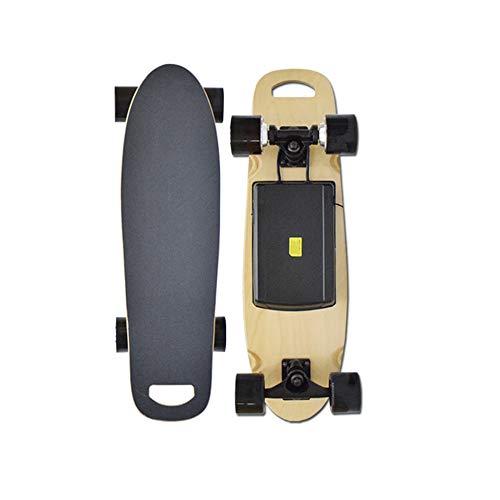 SSCYHT Elektrisches Skateboard mit Fernbedienung, 15 MPH Höchstgeschwindigkeit, 300 W Motor, 7-lagiges Maple Motorized Longboard für E-Skateboard für Erwachsene,Dual Drive