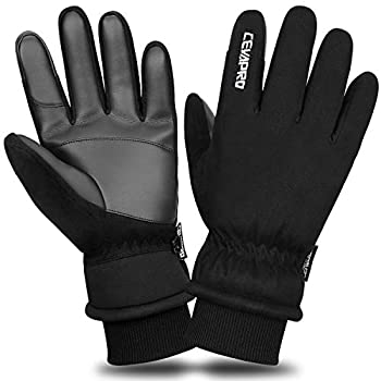 Cevapro -30℉ Waterproof Winter Gloves Suede 3M Insulated Gloves for Cold Weather