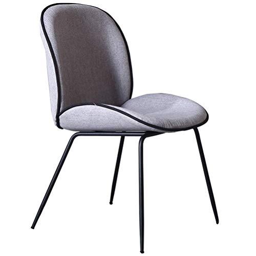 LQJYXD Schoenkruk Eetstoel Nordic Home Eenvoudige bureaustoel Thee Koffiebar Tafel En Stoelen (kleur : Grijs)