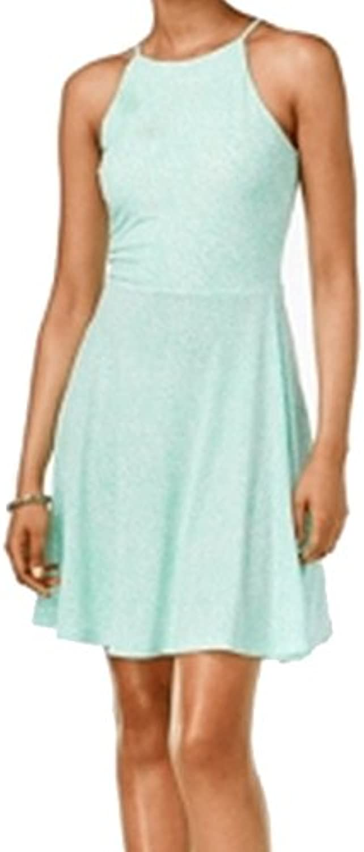 Bar III Printed Sleeveless Fit & Flare Dress