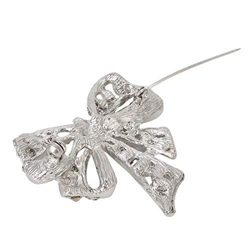 Accesorio de ropa Broche de lazo, Broche de diamantes de imitación, para Novia, Amigas, Mujeres