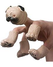 Yolluu Lalka z palcem ręka, nowość wiewiórka palec ręka lalka zabawki zwierzę laleczki wczesna edukacja zabawka prezenty dla dzieci artykuły imprezowe zabawa w rolę laleki pokaz
