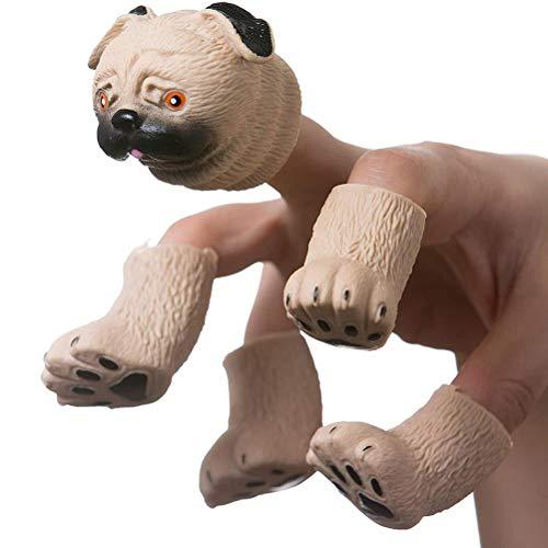 Söt ekorre finger handdocka nyhet leksaker finger hundar docka rekvisita baby pedagogisk rådgivning hand tecknad djurleksaker