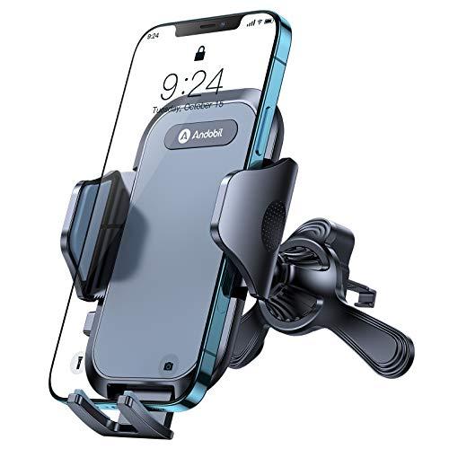 andobil Handyhalterung Auto Handyhalter fürs Auto Lüftung [Runde, horizontalen und vertikalen lüftungen] 360°Drehbar KFZ Handyhalter Kompatibel mit iPhone 12 pro/12/11, Samsung S21/S20/S10, Huawei usw
