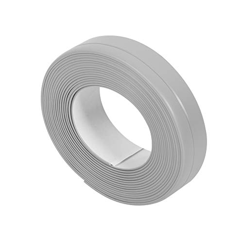 Wasserdicht Selbstklebendes Dichtungsband, 2 x 3.2m Länge PVC Band für Küchen, Badezimmer, Wand, Waschbecken,22mm x 3.2M, grau