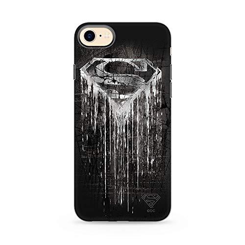 Estuche para iPhone 7/8/SE2 DC Superman, Original con Licencia Oficial, Carcasa, Funda, Estuche de Material sintético TPU-Silicona, Protege de Golpes y rayones
