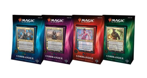 Magic the Gathering Commander 2018 Set of All 4 Decks - Deutsch - MTG