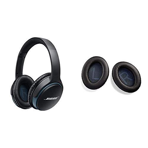 Bose SoundLink II - Auriculares Supraurales Bluetooth con Micrófono + 746892-0010 - Kit de Almohadillas para Auriculares externos Cerrados SoundLink, Color Negro