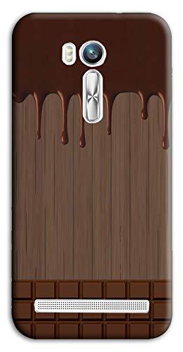 Mixroom - Cover Custodia Case in TPU Silicone Morbida per ASUS Zenfone Go 5.50 M733 Tavoletta di Cioccolata Sciolta