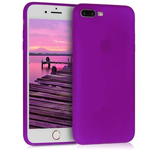 kwmobile Cover Compatibile con Apple iPhone 7 Plus / 8 Plus - Custodia in Silicone TPU - Backcover Protezione Posteriore- Viola Fluorescente