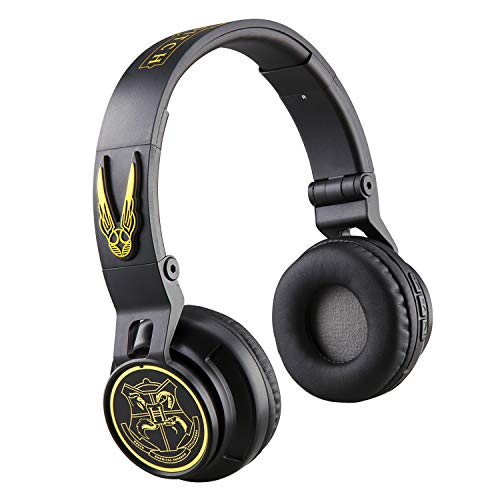Harry Potter Wireless Bluetooth Portable Kids Headphones with Microphone, Volume Reduced to Protect Hearing Rechargeable Battery, Adjustable Kids Headband for School Home or Travel