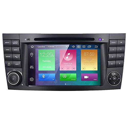 Coche Radio Audio Estéreo Doble Din GPS Navegador para Mercedes-Benz Clase electrónica W211 CLS W219 G-Class W463 CLS 350 CLS 500 CLS 55 Reproductor de DVD DSP Carplay RDS OBD2 Pantalla multitáctil