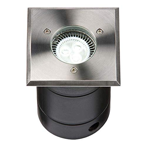 KNIGHTSBRIDGE WSGULED - GU10 LED Stainless Steel Square Walkover Light IP67