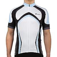 Tiekoun Men's Short Sleeve Full Zipper Cycling Biking Shirt Jersey