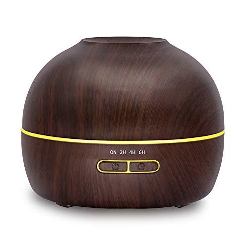 HH-JSQ 300ml Aroma diffuser luchtbevochtiger 7-kleurige LED-lampen voor woon- en slaapkamer tegen drogen door verwarming
