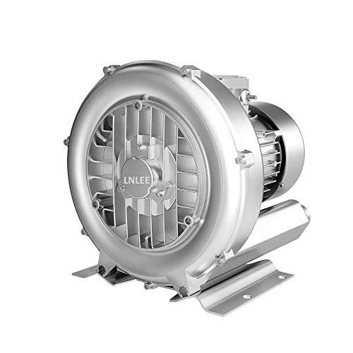 LNLEE Regenerative Blower High-Pressure Vortex Ring Blower 110V 60Hz Single Phase 0.4HP 33CFM for Sewage Aeration Aquarium Fish Pond