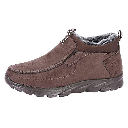 acction Botas de Senderismo para Hombre Botas de Nieve Invierno Ante Calzado Zapatos de Ocio al Aire Libre y...
