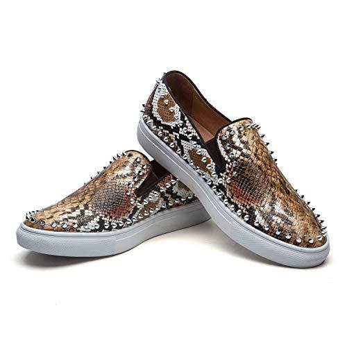 JITAI Zapatos Casuales de Hombre Zapatos de Moda de Zapatos de Hombre Zapatos Casuales de Encaje