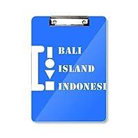 バリ島島インドネシア フラットヘッドフォルダーライティングパッドテストA4