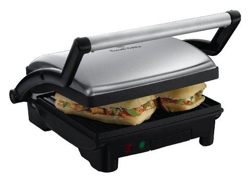 Russell Hobbs 3-in-1 Panini Press, Grill and Griddle 17888, Stainless...