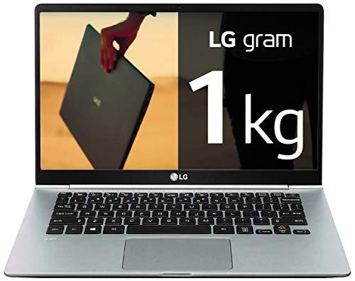 "LG Gram 14Z990-V - Ordenador portátil ultraligero de 35.5 cm (14"") FHD IPS (1 kg, autonomía 23.5h, Intel i7 8ª gen., 8 GB RAM, 256 GB SSD, Windows 10 Home) Plata - Teclado Español"