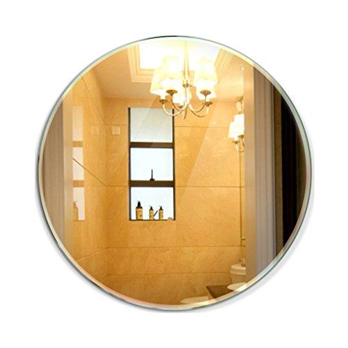 DNSJB miroirs muraux sans Cadre en Miroir de Salle de Bain avec Miroir sans Cadre Rond (Taille : 38 * 38cm)