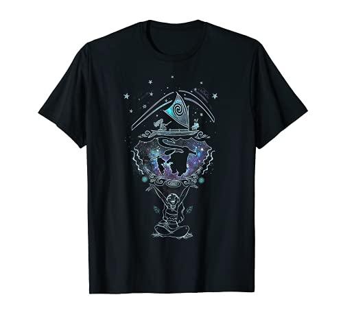 Disney Moana Dream Galaxy Maui Outline Graphic T-Shirt