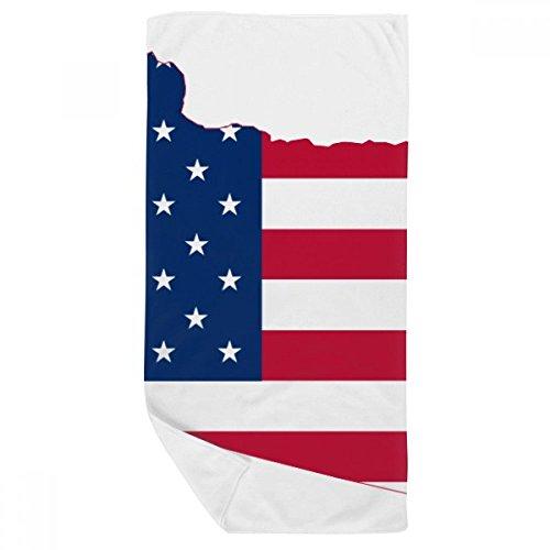 DIYthinker Drapeau Oregon USA Plan étoiles Stripes Serviette de Bain Doux Gant de Toilette Gant de Toilette 35X70Cm 35 x 70cm Multicolor
