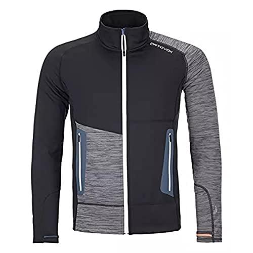 ORTOVOX Fleece Light Jacket Giacca da uomo, Uomo, giacca, 87139, Corvonero, M