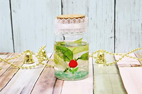 バックフラワー(Back Flower) ハーバリウムプラス グリーン 全長: 8cm チューリップ