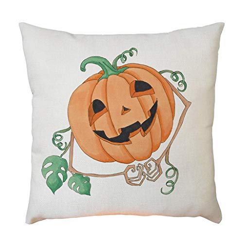 DKISEE Canvas Pillowcase Halloween Kussensloop Huisdecoratie voor Party Favors Supplies Holiday Decoration Gift Color10
