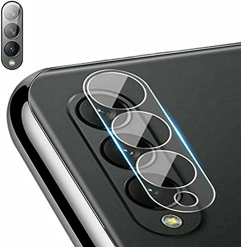 AQWEI Samsung Galaxy Z Fold 3 5G Camera Lens Tempered Glass Film Screen Protector, Anti-Scratch Flexible Tempered Camera Lens Protector Clear Film (6PCS)