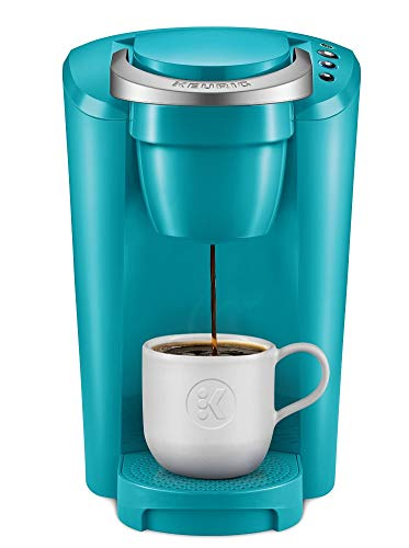 K-Compact Single-Serve K-Cup Pod Coffee Maker, Turquoise (One Pack)