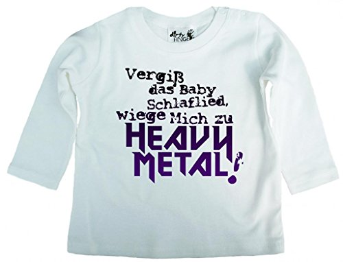 Dirty Fingers Dirty Fingers, Vergiß das Babyschlaflied, Heavy Metal!, T-Shirt langärmlig, 3-6 m, Wei?