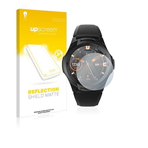upscreen Entspiegelungs-Schutzfolie kompatibel mit Mobvoi Ticwatch S2 – Anti-Reflex Bildschirmschutz-Folie Matt