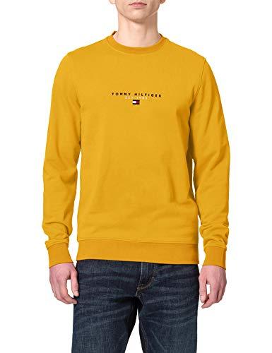 Tommy Hilfiger Herren Essential Tommy Crewneck Pullover, Innenhofgelb, Small