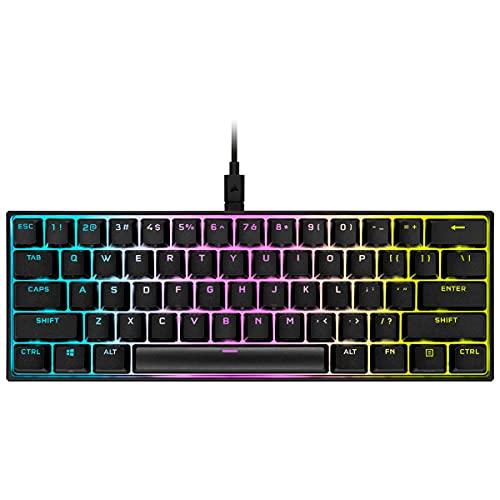 Corsair K65 RGB MINI 60% Mechanical Gaming Keyboard (Adjustable RGB Lighting Single...