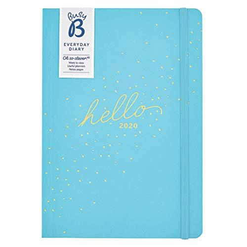 Agenda diaria 2020 Busy B - semanal A5 azul con notas