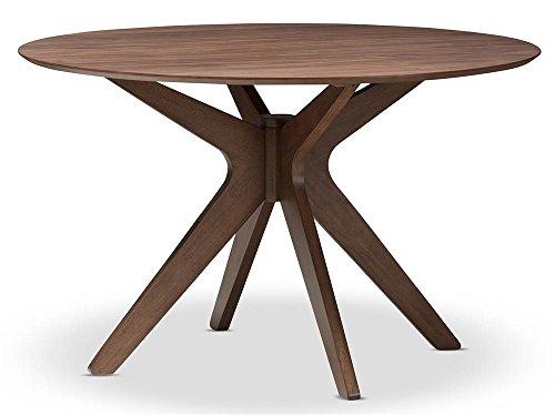 Baxton Studio Mid-Century Round Dining Table