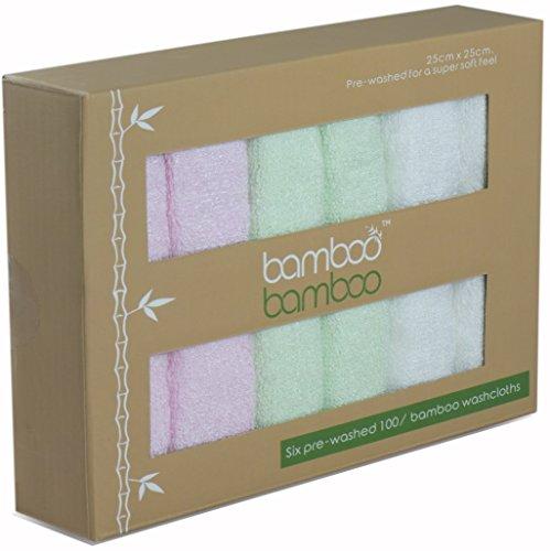 Premium reutilizable paños de bambú Natural hipoalergénico antibacteriano y almohadas